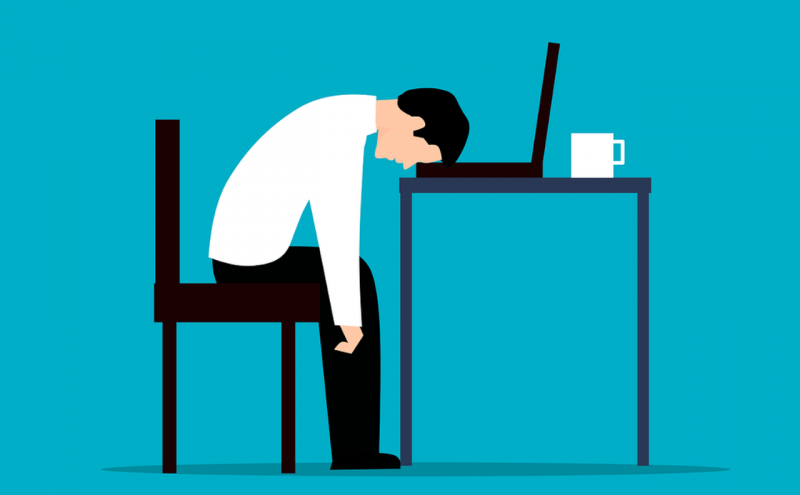 ストレスで作業できない人